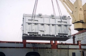 Engineering equipment shipment