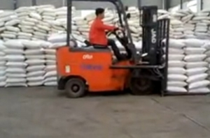 Forklift truck operation